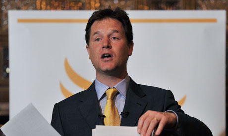 Nick Clegg, who has said the Liberal Democrats will ake a more 'muscular' role in the coalition