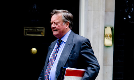 Kenneth Clarke, who appeared to suggest that 'date rape' is not a serious offence. Photograph: Martin Argles for the Guardian