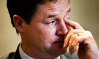 Nick Clegg, whose party has suffered its worst electoral results in a generation