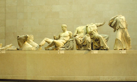 The Parthenon marbles, which are on display at the British Museum