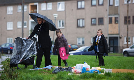 A young family with their mother in Easterhouse, Glasgow