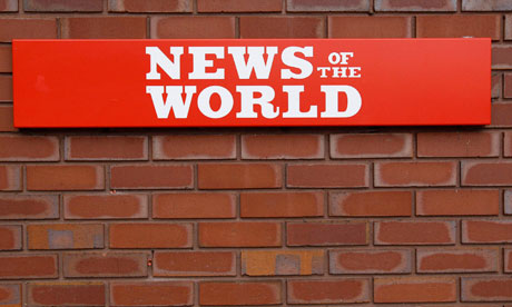 A sign outside the News International Limited complex in London