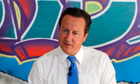 David Cameron makes a speech at a youth centre in Witney, Oxfordshire
