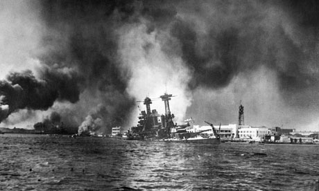 Pearl Harbor attack: US Pacific fleet in flames