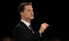 Nick Clegg at the Liberal Democrat conference