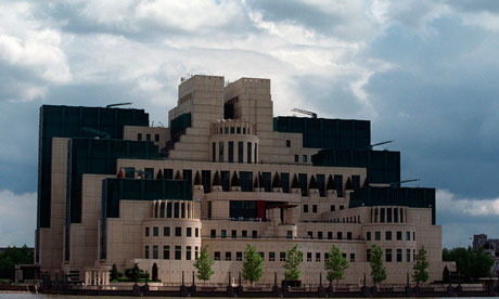 Headquarters of Britain's Secret Intelligence Service in London