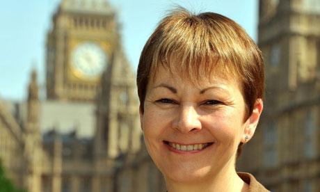 Caroline Lucas, the Green party leader