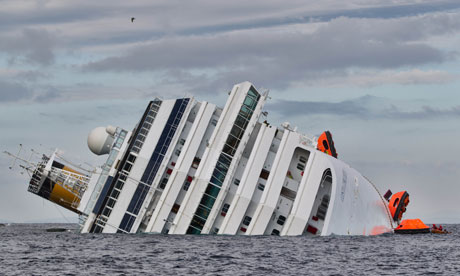 Costa Concordia cruise ship runs aground