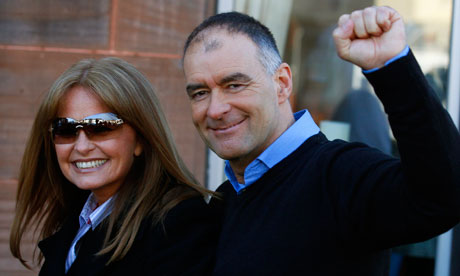 Tommy Sheridan with his wife, Gail