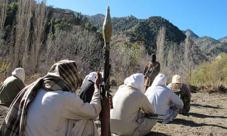 Taliban fighters in north-west Pakistan.