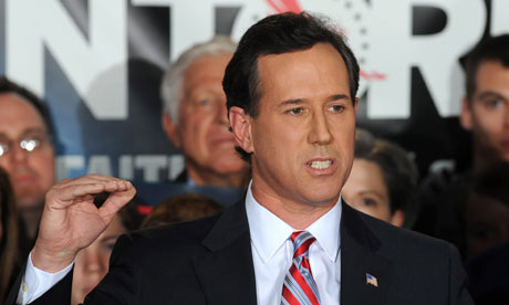Republican presidential candidate and former US senator Rick Santorum