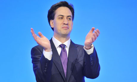 Ed Miliband on the closing day of the Labour conference in Manchester