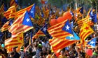 Supporters of independence for Catalonia