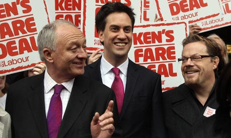 Ken Livingstone, Ed Miliband and Eddie Izzard