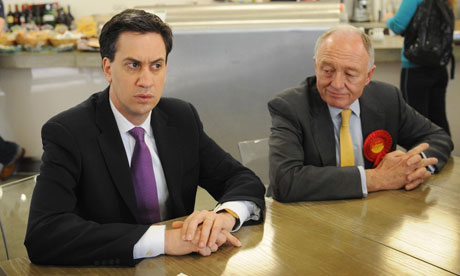 Ed Miliband and Ken Livingstone
