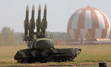 The Buk-M2 air defence missile system.
