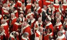 Peers leave the House of Lords following the state opening of parliament
