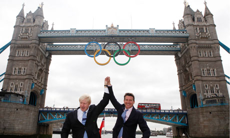 Boris Johnson and Lord Coe at London Bridge