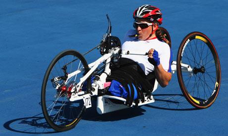 Rachel Morris on her way to winning gold in Beijing.