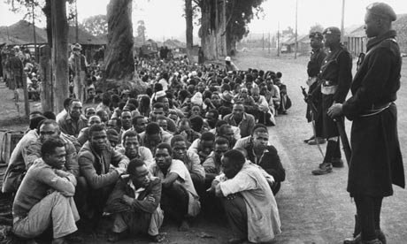 Group of people detained during the Mau Mau uprising