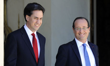 Ed Miliband and François Hollande
