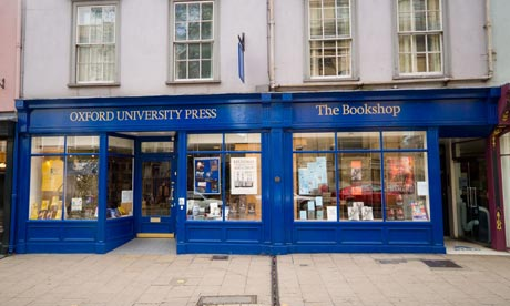 The Oxford University Press bookshop in Oxford High Street