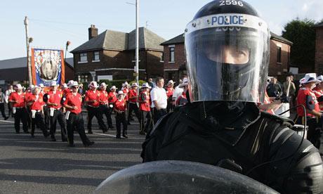 Orange Order parade in Belfast