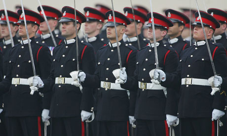 Officer cadets at the Royal Military Academy Sandhurst