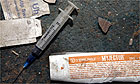 A drug user's syringe