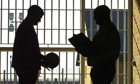 A young prisoner at Ashield young offenders' institution.