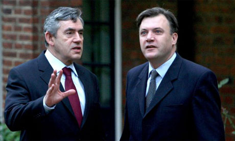 Gordon Brown and the children's minister Ed Balls