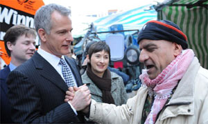 Brian Paddick takes his campaign to be London mayor to Brixton Market