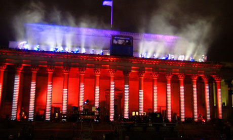 View of the 'People's Opening' of Liverpool as European Capital Of Culture, at St.Georges Hall