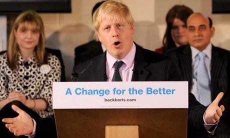 London mayoral candidate Boris Johnson