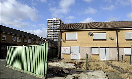 Derelict housing in Beswick, east Manchester