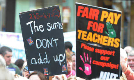 Teachers in Newcastle march during last month's NUT strike
