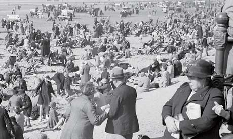 Bolton folk at play on holiday, Blackpool, in 1937. Photograph: Humphrey Spender