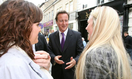 David Cameron visiting Lancaster last week