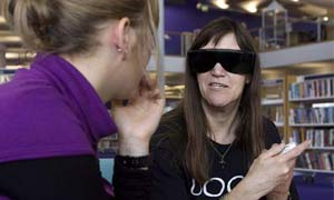 Julie Duffy, the 'visually impaired book', shares her experiences as part of the livin