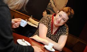 Clare Allan and her social worker Bernadette