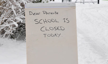 School closed due to snow