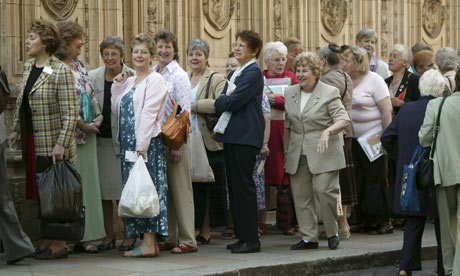 The queue at the Womens Institute (WI) Annual General Meeting (AGM) at the Royal Albert Hall, 2005.
