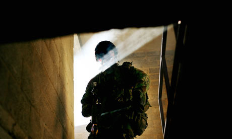 British soldiers at training camp prepare for Afghanistan.