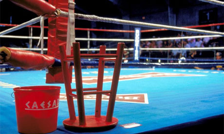 Boxing - General View of Caesars Palace with an upturned stool