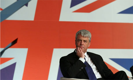 Health Secretary Andrew Lansley speaks at the Conservative Party Conference on October 5, 2010