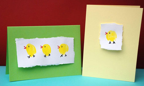 Thumbprint Easter chick craft, Easter crafts, kids crafts
