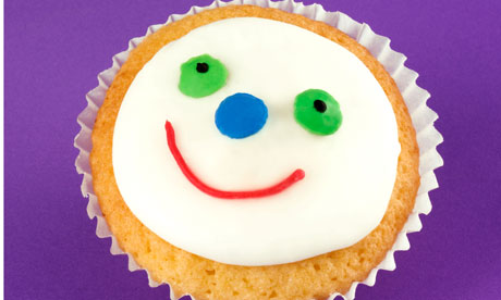 smiley face cupcake