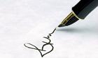 Sign pen ink
