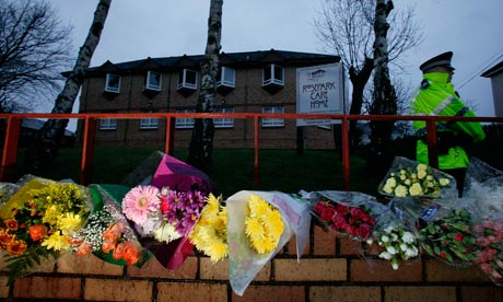 Rosepark care home in Lanarkshire, Scotland, where 14 elderly people died in a fire in 2004