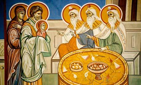 A Nativity scene at the  Lazarica Church in Birmingham